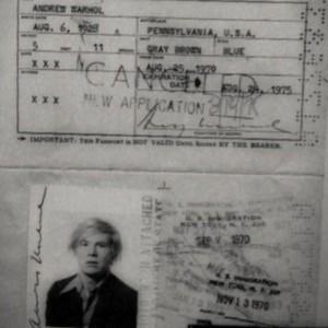 warhol passport